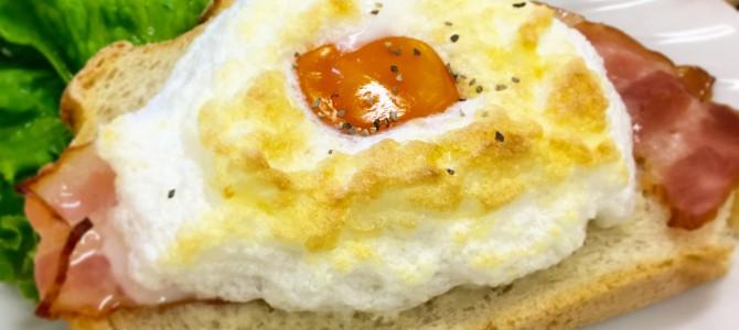 もふもふ卵のオープンサンド